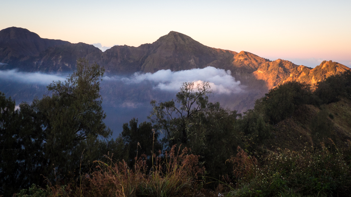 Crater rim, Mt Rinjani